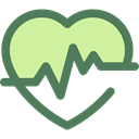 graph, Heart, medical, frequency, pulse, Beating, Pulse Rate DimGray icon