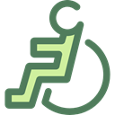 hospital, disability, handicap, Tools And Utensils, Access, wheelchair, Disabled DimGray icon