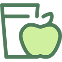 Health Care, Apple, Heart, love, Fruit, diet DimGray icon
