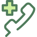 hospital, emergency, technology, phone receiver, phone call, Tools And Utensils, Health Care, Health Clinic DimGray icon