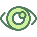 medical, Eye, optical, vision, Ophthalmology DimGray icon