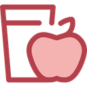 diet, Health Care, Apple, Heart, love, Fruit Sienna icon