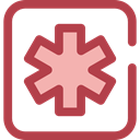 star, Info, Information, Asterisk, shapes, symbol, signs Sienna icon