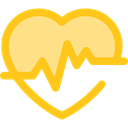 graph, Beating, Pulse Rate, Heart, medical, frequency, pulse Gold icon