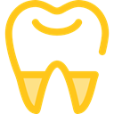Dentist, medical, Teeth, tooth, Health Care Gold icon