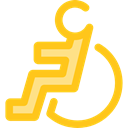 hospital, disability, handicap, Access, wheelchair, Disabled, Tools And Utensils Gold icon