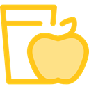 Apple, Heart, love, Fruit, diet, Health Care Gold icon