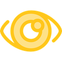 Ophthalmology, medical, Eye, optical, vision Gold icon