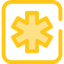 star, Info, Information, Asterisk, shapes, symbol, signs Gold icon