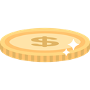 Business, Money, Coins, Currency, Bank, dollars, banking Black icon