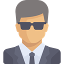 Glasses, people, user, profile, Avatar, Tie, Businessman DimGray icon