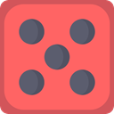 gambler, square, shapes, luck, Casino, gambling Tomato icon
