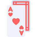 poker, Black jack, Casino, gambling, Ace Of Hearts AliceBlue icon