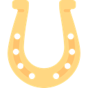 Horseshoes, Animal, horse, gaming, luck, mammal Khaki icon
