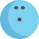 Game, sport, sports, leisure, Bowls SkyBlue icon