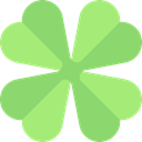 poker, Flower, shapes, flowers, symbol LightGreen icon