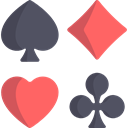 shapes, Spades, Diamonds, Casino, Clovers, poker, Hearts Black icon