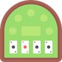 Casino, gambling, poker, Black jack, Money LightGreen icon