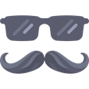eyeglasses, moustache, sunglasses, people, winner, Mustache DimGray icon