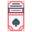 card, Spades, Casino, poker, Box, Black jack AliceBlue icon