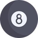 sport, Circle, number, Billiard, gambling, gambler DimGray icon