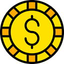 gambling, Chip, gaming, Casino, Bet Gold icon