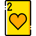 Casino, Bet, gambling, Cards, poker, Hearts, gaming Gold icon