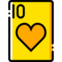 Cards, poker, Hearts, gaming, Casino, Bet, gambling Gold icon