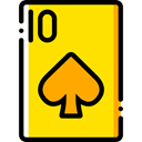 Cards, poker, gaming, Spades, Casino, Bet, gambling Gold icon