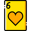 gaming, Casino, Bet, gambling, Cards, poker, Hearts Gold icon