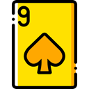 poker, gaming, Spades, Casino, Cards, Bet, gambling Gold icon