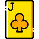 Casino, Bet, Clubs, gambling, Cards, poker, gaming Gold icon