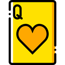 Bet, gambling, Cards, poker, Hearts, gaming, Casino Gold icon