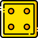 gambling, entertainment, luck, Casino, dices, Game, dice, gaming Gold icon