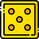 Game, dice, gaming, luck, Casino, dices, gambling, entertainment Gold icon