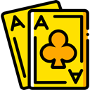 gaming, Aces, Casino, Bet, Cards, poker, gambling Gold icon