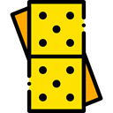 Game, gaming, Pieces, leisure, domino Gold icon