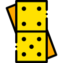 Pieces, leisure, domino, Game, gaming Gold icon
