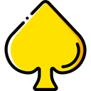 poker, Game, card, gaming, Spades, signs Gold icon