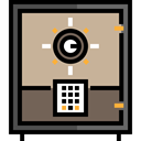 banking, Tools And Utensils, security, Business, Bank, savings, Safebox Tan icon