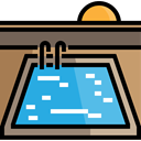 water, sports, Holidays, real estate, Swimming Pool, Summertime Black icon