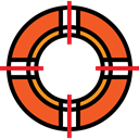 security, Lifesaver, help, lifeguard, lifebuoy, Floating Black icon