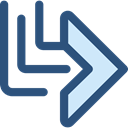 Arrows, Orientation, ui, Diagonal, Multimedia, directional, Multimedia Option, Diagonal Arrow DarkSlateBlue icon