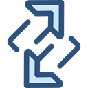 Arrows, Change, ui, exchange, symbols, changing, Multimedia Option DarkSlateBlue icon
