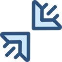 Direction, ui, Multimedia Option, Diagonal Arrows, Arrows, Orientation, Compress DarkSlateBlue icon