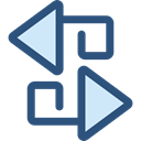 sort, Orientation, ui, Arrows, switch, Arrow, swap, vertical DarkSlateBlue icon