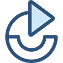 Arrows, Redo, Orientation, Direction, ui, Multimedia Option, Circular Arrow DarkSlateBlue icon