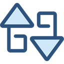 Arrows, switch, Arrow, swap, vertical, sort, Orientation, ui DarkSlateBlue icon