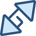 Arrows, Direction, ui, Multimedia Option, Fullscreen, Orientation, interface, expand DarkSlateBlue icon