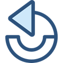 Arrows, Undo, Orientation, Direction, ui, Multimedia Option, Circular Arrow DarkSlateBlue icon